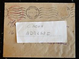 ENVELOPPE A ENTETE  ASSOCIATION FEDERATIVE DE L ART LIBRE GROUPE FONTAINEBLEAU - FLAMME MUETTE 1946 - Marcophilie (Lettres)