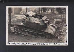 Polen Poland AK Tank In Samotschin Szamocin 1938 - Polonia