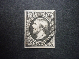 Luxemburg Luxembourg Mi 1b O, Sehr Gut Gerandet, RARR!! (KW: 85,00€) - 1852 Guillaume III