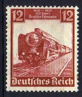 Deutsches Reich, 1935, Mi 581 * Deutsche Eisenbahn 100 [231218StkKV] - Unused Stamps