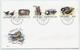 DENMARK 1994 Native Fauna Set On FDC.  Michel 1086-90 - FDC