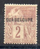 GUADELOUPE - YT N° 15b - Neuf * - MH - Cote: 60,00 € - Unused Stamps
