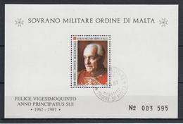ORDEN DE MALTA 1987 Nº F273 USADO - Malta (la Orden De)