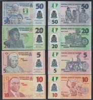 Nigeria 4 Stück Banknoten 2007-10 UNC    (23210 - Banknotes