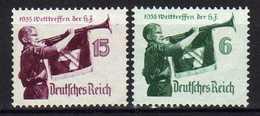 Deutsches Reich, 1935, Mi 584-585 X/Y *, Welttreffen Der Hitler-Jugend [231218StkKV] - Nuovi