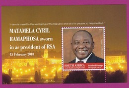 South Africa RSA - 2018 - President Matamela Cyril Ramaphosa MNH - Afrique Du Sud (1961-...)