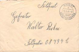 Feldpost Havert über Geilenkirchen 1940 - Marcophilie - EMA (Empreintes Machines)