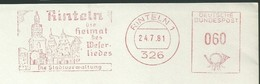 EMA AFS METER STAMP FREISTEMPEL - Germany Rinteln 1981 Traditional German Architecture Churches Houses Buildings - Churches & Cathedrals