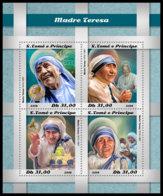 SAO TOME 2018 **MNH Mother Teresa Mutter Teresa Mere Teresa M/S - IMPERFORATED - DH1850 - Mère Teresa