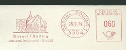 EMA AFS METER STAMP FREISTEMPEL - Germany Dassol Solling 1979 Traditional German Architecture Churches Houses Buildings - Churches & Cathedrals