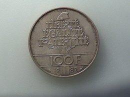 FRANCE 100 Francs 1987 Général La Fayette - Silver, Argent - N. 100 Francs