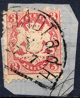Stamp Bavaria 1870 3kr Used Lot#2 - Bavière