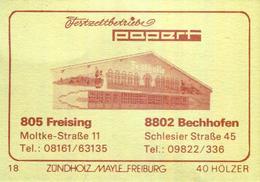 100 Alte Gasthausetiketten, Festzeltbetriebe Papert, 8802 Bechhofen, 8050 Freising #39 - Boites D'allumettes - Etiquettes