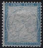 Napoléon III 1862 N°22* Essai Du 20c Bleu Effigie Absente Très Frais Superbe ! - 1862 Napoléon III