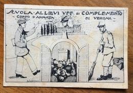 CORPO D'ARMATA DI VERONA SCUOLA ALLIEVI UFFICIALI DI COMPLEMENTO SCRITTA A FERRERO TULLIO ALBA IL 12/9/26 - Barracks
