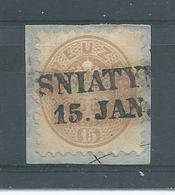 ANK. 34 Mit Stempel Von SNIATYN Auf Briefstück Siehe Scan - Oblitérés