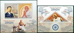 2 SHEETS GANDHI NOBEL PRIZE NOBEL PRIX - Mahatma Gandhi