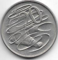 *australia 20 Cents 1967  Km 66  Vf+ - Monnaie Décimale (1966-...)