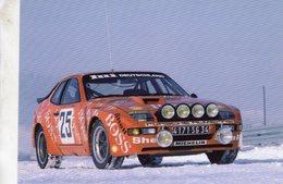 Rallye Monte-Carlo 1982  -  Porsche 924 Carrera GTS  -  Pilotes: Jurgen Barth/Roland Kussmaul   -   Carte Postale - Rally Racing