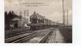 LES CHEMINS DE FER FRANCAIS (Etat.) Le 512 Rennes-Paris Rapide à L'entrée De La Gare De La Loupe Machine N°3800 Etat. - Trains