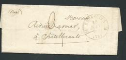 """Lac Oblitéré Cad """"Bressuire  - Deux Sèvres - Le 15/06/1835   Lx 1818 - Postmark Collection (Covers)"""