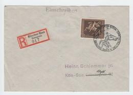 Deutsches Reich , Braunes Band , Besseres Einschreiben Ohne Ankunftsstempel , Geprüft - Deutschland
