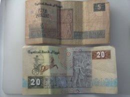 EGYPTE BILLET 5 Et 20 Pound Pounds - Egypte