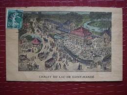 75. Chalet Du Lac De Saint Mande ( Carte En Bois Contreplaqué Très Fin ) - France