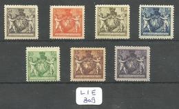 LIE Zumstein 46A/52A YT 45A/51A ** MNH - Liechtenstein