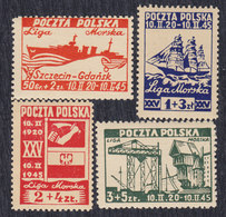 Poland 1945 Sea League - 25th Anniversary Of Founding, MNH (**) Michel 399-402 - Nuevos