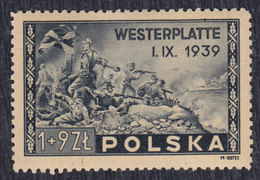 Poland 1945 Battle Of Westerplatte - 6th Anniversary, MH (*) Michel 407 - Nuevos