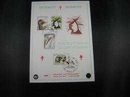 """BELG.1972 1652-1655 FDC Fila  Card Knokke-Heist """"Vogels Uit Het Natuurreservaat """"Het Zwin"""" In Knokke-Oiseaux De La Réser - Herdenkingskaarten"""