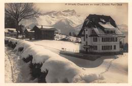 CPA  Suisse,  VILLARS, Chesieres En Hiver, Chalet Plan Neve,  Carte Photo, - VD Vaud