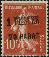 French Offices In Levant Scott #52, 1923, Hinged - Unused Stamps
