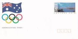 Australia Postal Stationary 2000 Sydney Olympic Games - Congratulation - Mint  (LAR6-38A**NB) - Ete 2000: Sydney
