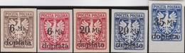 Polen   .  Yvert   Taxe  32/36      .    *      .   Ungebraucht Mit Gummi Und Falz  .   /  .   Mint Hinged - Postage Due