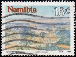 NAMIBIA - Scott #662 Fish River Canyon / Used Stamp - Namibie (1990- ...)
