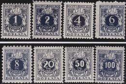 Polen   .  Yvert   Taxe  37/44      .    *      .   Ungebraucht Mit Gummi Und Falz  .   /  .   Mint Hinged - Postage Due