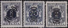 Polen   .  Yvert   Taxe  62/64      .    *      .   Ungebraucht Mit Gummi Und Falz  .   /  .   Mint Hinged - Postage Due