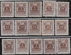 Polen   .  Yvert   Taxe  65/79      .    *      .   Ungebraucht Mit Gummi Und Falz  .   /  .   Mint Hinged - Postage Due