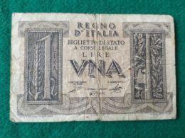 1 LIRA 1939 - [ 1] …-1946 : Kingdom