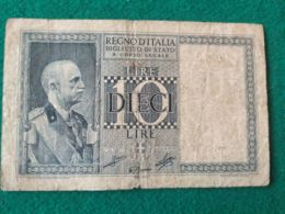 10 Lire 1938 - [ 1] …-1946 : Kingdom