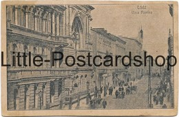 Foto AK Lodz Ulica Dzielna Feldpost 1915 Litzmannstadt Karta Pocztowka - Guerra 1914-18