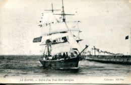 N°68254 -cpa Le Havre -entrée D'un Trois Mâts Norvégien- - Commerce