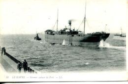 N°68267 -cpa Le Havre -steamer Sortant Du Port- - Commerce