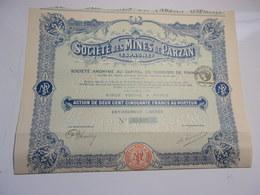 MINES DE PARZAN (espagne) 250 Francs (capital 10 Millions) - Aandelen