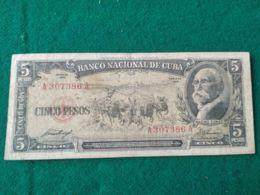 5 Pesos 1956 - Cuba
