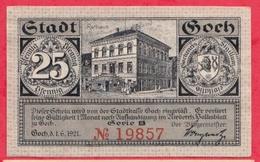 Allemagne 1 Notgeld De 25 Pfenning Stadt Goch UNC  N °2330 - [ 3] 1918-1933 : République De Weimar