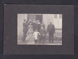 Photo Originale Contrecollée Portrait Famille Thorey - Les Attaques Près Calais - Persone Identificate