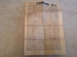 Libération Mars 1945 Recto Verso, Création D'un état Rhenan - Journaux - Quotidiens